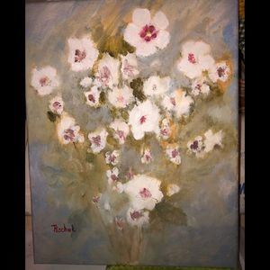 Rose of Sharon Original Oil on Canvas Abstract